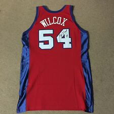 Chris Wilcox Signed 2002-03 Clippers Pro Cut Rookie Game Jersey + Headbands COA
