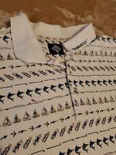 Tabasco Mens Sz 2XL Polo Shirt beige golf fly fishing sail boats RARE XXL