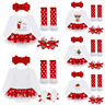 Fashion Christmas Baby Girls Dress Outfits Xmas Romper Tutu Skirt Party Clothes