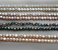 "10 Strands Natural 6-7mm Freeform Biwa Baroque Freshwater Pearl Loose Beads 15"""