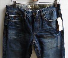 Guess Men Jeans 31 W x 34 Desmond Distressed Cranium Wash Brand New with Tags