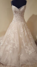 "Sophia Tolli Y21441 ""Geraldine"" Champagne/Ivory Size 10 Wedding Dress"