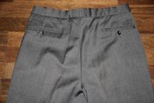 graue Anzug Hose Gr 52 54 reine Schurwolle Buntfaltenhose Umschlag Bügelfalte