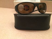vuarnet sunglasses VL0121 BLACK FRAME HIGH CONTRAST BROWN POLARIZED LENS *NEW *