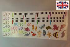 Growing Childs marine/sea life wall height measurement chart-UK STOCK