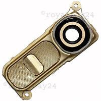 LG G4 Kamera-Linse Gold Echt-Glas-Scheibe mit Taste Rahmen Camera-Lens H815