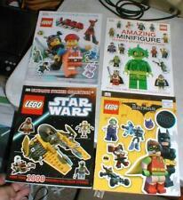 Lot-4 LEGO DK Ultimate Sticker Collection Books Minifigure Star Wars Batman-Film
