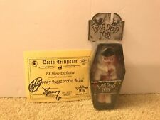 Living Dead Dolls MIni FX Bloody Eggzorcist Signed Death Certificate New Sealed