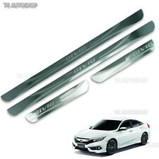 4 Door Stainless Sill Scuff Plate Guards Fit Honda Civic Sedan FB6 2016 2017