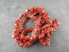 Jasper Chip Bead Necklace Brick Red