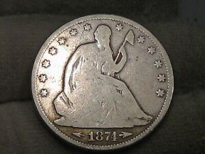 1874 Seated LIBERTY Half Dollar. #97