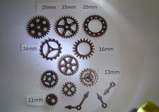 12 STEAMPUNK  METAL CHARMS DEEP COPPER   COLOUR COGS AND GEARS