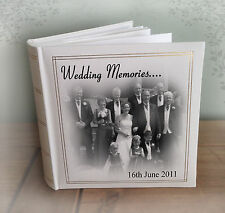 Personalised large luxury photo album, photo book, wedding anniversary present.