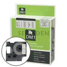 """1pk Black on Clear Label Tape Fit for DYMO 45800 D1 19mm 3/4"""""""
