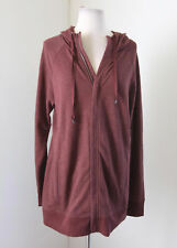 NWT New Life is Good Rust Zip Front Hooded Jacket Size M Graphic Hoodie