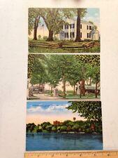 Portage Wisconsin Vintage Postcard 3 Lot River St Savior's Hospital Tourist Park