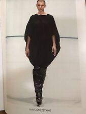 Stylish Annette Gortz Black Coat Jacket Size S/M Fit UK 12 14 New Linen Mix