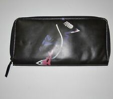 New Burton Womens Circle Bi-Fold Zip Up Clutch Purse Wallet