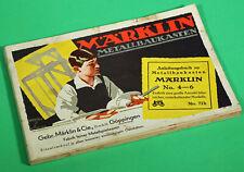 alter Katalog Anleitung Märklin Metallbaukasten Antique catalog instruction 1936