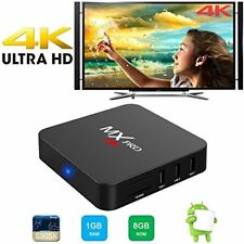 Android Google Smart TV Box MX Pro Quad Core Full HD 4K Vedio Wifi Media Center