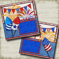 FIREWORKS - Premade Scrapbook Pages - EZ Layout 2755