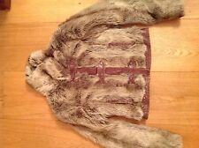 Vintage River Island fur jacket