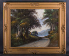 """Early 20th Century American Original Pastel On Paper """"Country Path"""""""