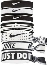 NIKE Mixed Ponytail Holder 9 Pack One Size Fits All Black / White