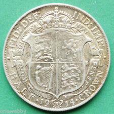 1914 George V Silver Half-Crown SNo24917