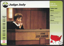 JUDGE JUDY Sheindlin TV Court Show Bio Photo GROLIER STORY OF AMERICA CARD