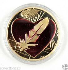 Physical Feathercoin Gold-Plated Medallion