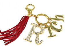 "Feng Shui ""RICH"" Key chain Ring with Tassel charm Amulet or handbag hanging"