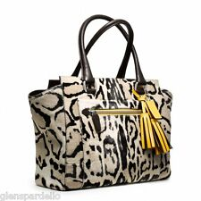 NWT COACH COACH 21166 Legacy Ocelot Haircalf Candice Carryall HANDBAG tote bag $