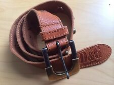 Authentic D&G (Dolce & Gabbana) Men Brown Leather Belt (Size 95cm, 33 in)