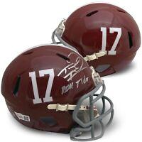 Tua Tagovailoa Autographed Alabama Football ROLL TIDE Mini Helmet Fanatics COA