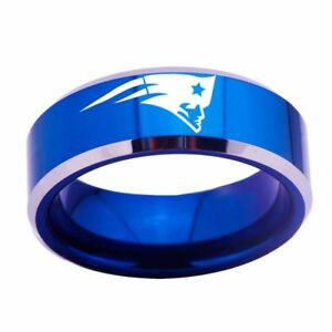 NEW ENGLAND PATRIOTS Ring FOOTBALL Team Stainless Steel Men 4colors US size 6-15