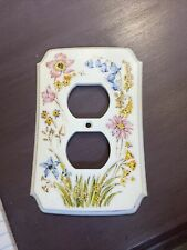 Vintage American Tack Wildflower Double Light Outlet Cover Dura Plastic