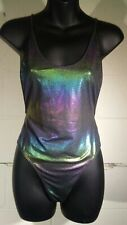 Forever 21 S Iridescent Low Back One Piece Sexy Swimsuit Bathing suit NWT