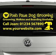 Mobile Dog Grooming | Business Window Sticker Decal For Car, Van, Vehicle | SI10