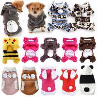Dog Cat Puppy Fleece Coat Jacket Hoodie Sweatshirts Small Pet Clothes Costumes