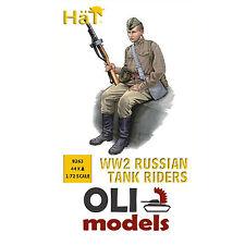 1/72 WW2 RUSSIAN TANK RIDERS (44) Figures Set - HaT 8263