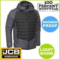 Pro JCB Lightweight Mens Padded Thermal Winter Warm Work Wear Jacket Trade Coat