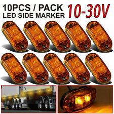 10 Pcs Amber LED Marker Lights LED Light Oval Trailers Truck Side Lamp Protable