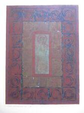 Japanese  Woodblock Print - K. Kishi - statue with a bandage