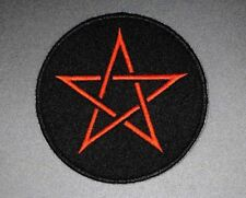 "RED PENTAGRAM PATCH, PENTAGRAM PATCH PENTACLE PATCH H: 3 x W 3"" WICCA (BC-62)"