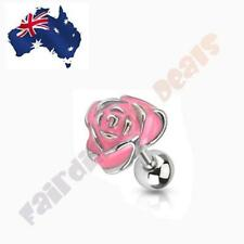 Rose Tragus/Cartilage Stud 316L Surgical Steel Pink