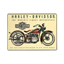Harley-Davidson® Bar & Shield 74 Big Twin Motorcycle Tin Sign (17x12.5) 2010011