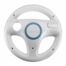 White Steering Wheel For Nintendo Wii Mario Kart Racing Games Remote Controller
