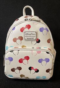 Disney Loungefly Minnie Mouse Ears Headband Mini Backpack New In Hand