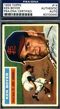 KEN BOYER PSA/DNA AUTHENTICATED SIGNED 1956 TOPPS AUTOGRAPH